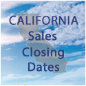 California Sales Closing