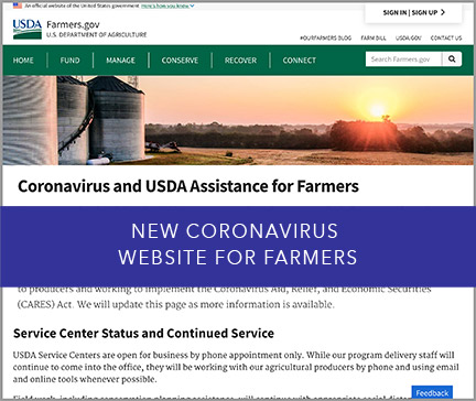 New Coronavirus Website for Farmers